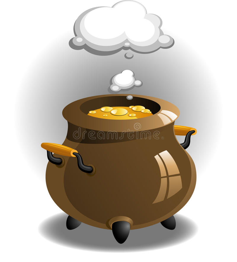 Download Pot of brew stock vector. Image of magical, isolated - 19155279