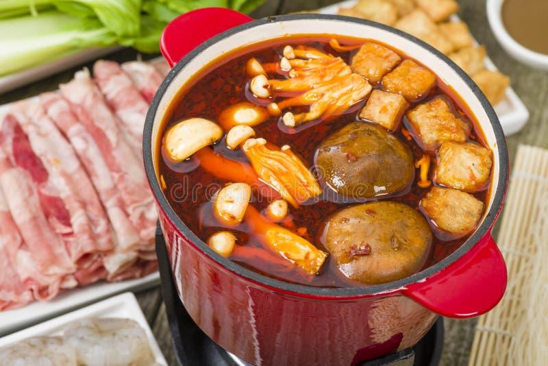 Pot chaud de Szechuan images libres de droits