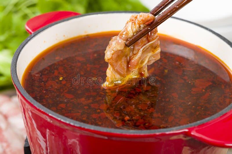 Pot chaud de Szechuan images stock