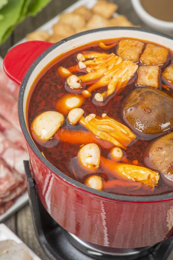 Pot chaud de Szechuan photo libre de droits