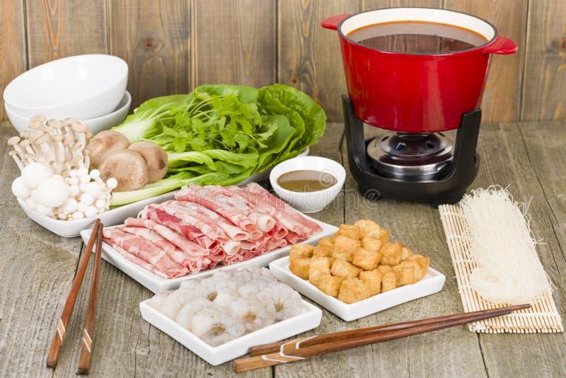 Pot chaud de Szechuan photos stock