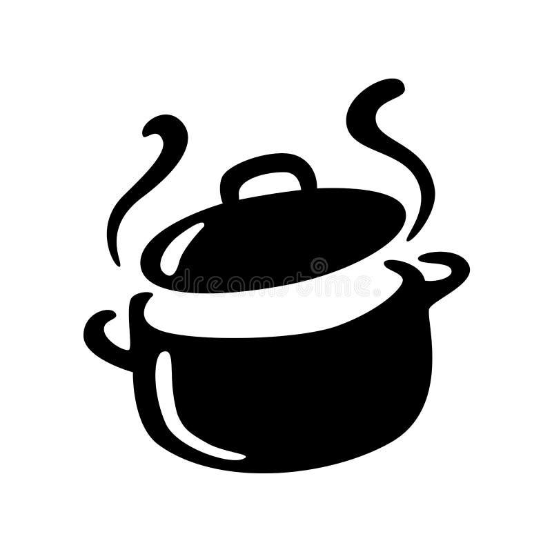 Pot chaud graphique, vecteur illustration stock