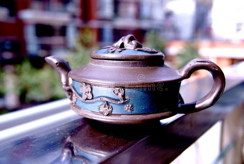 POT cinese del tè fotografie stock
