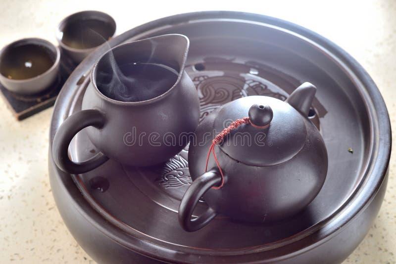 POT cinese del tè immagini stock