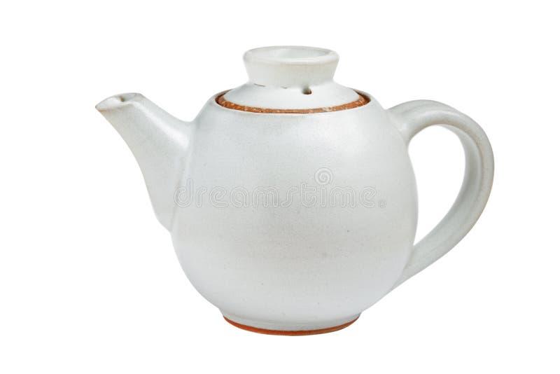 POT cinese del tè isolato fotografie stock libere da diritti