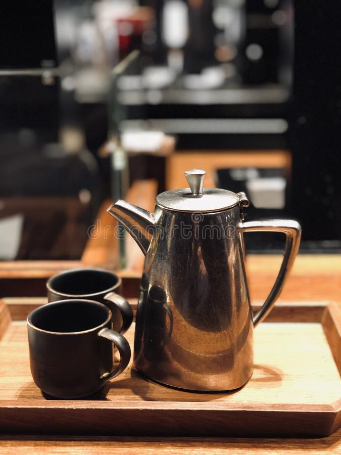 A pot of coffee royalty free stock photos