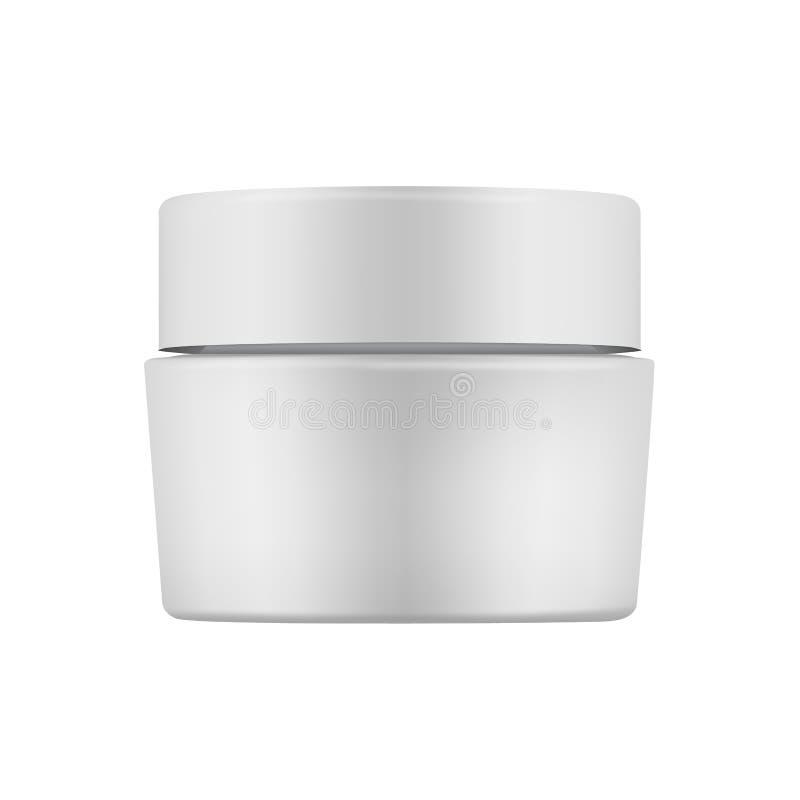 Pot crème gris fermé d'isolement illustration de vecteur