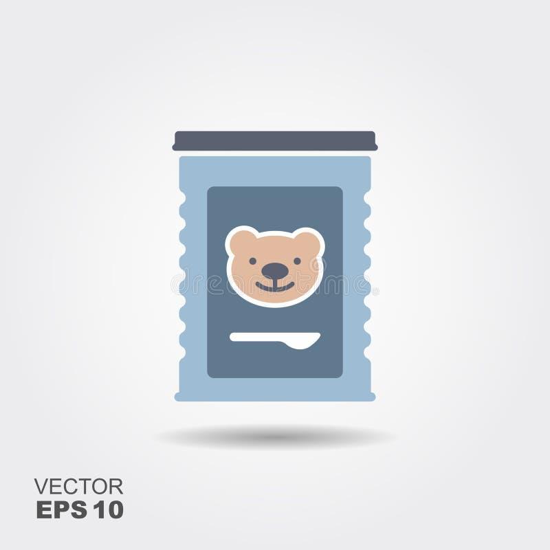 Pot d'aliment pour bébé illustration stock
