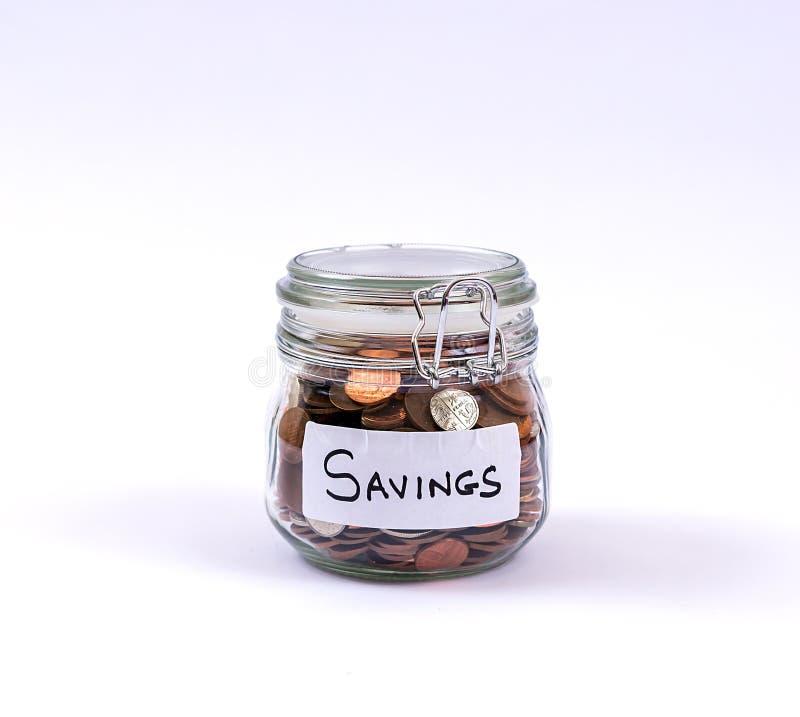 Pot d'argent de l'épargne photos stock