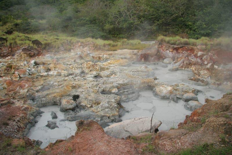 POT d'ebollizione del fango - Rincon de la Vieja, Costa Rica immagine stock