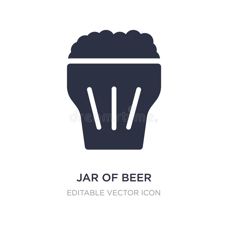 pot d'icône de bière sur le fond blanc Illustration simple d'élément de concept de nourriture illustration de vecteur