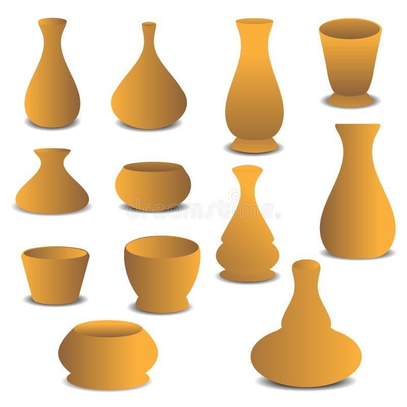 Pot d'usine de poterie illustration libre de droits