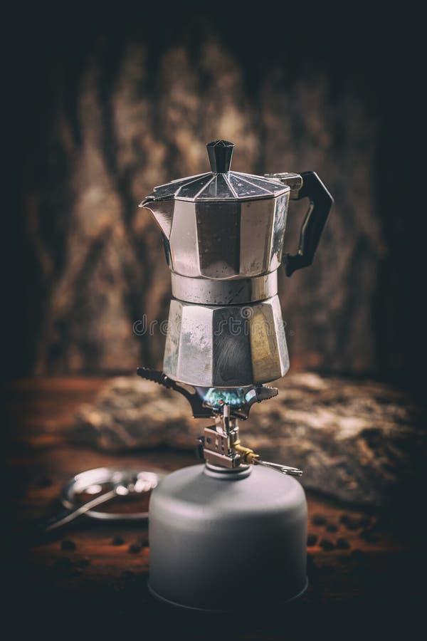 Pot de café de Moka photos stock