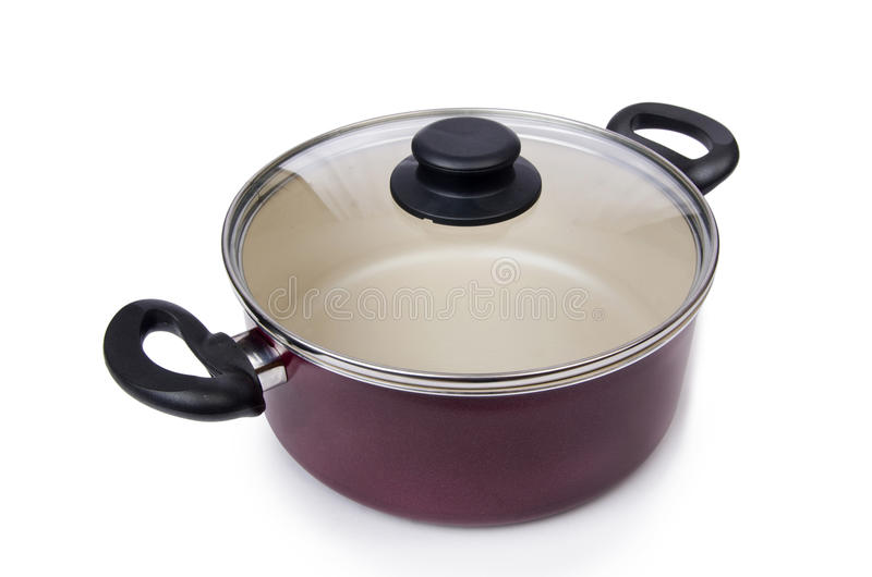 Pot de casserole d'ustensiles de cuisine photographie stock libre de droits