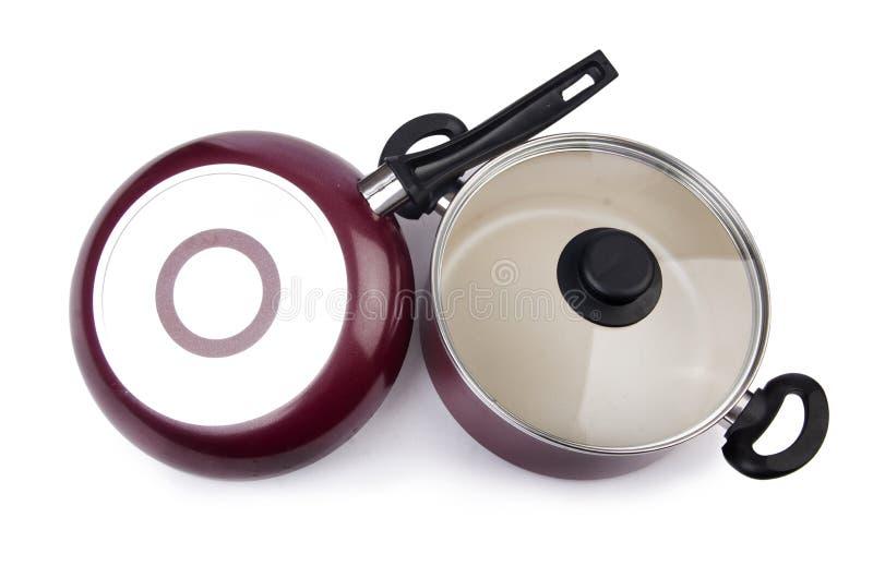 Pot de casserole d'ustensiles de cuisine image libre de droits