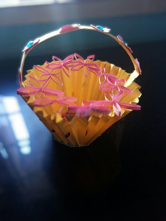 Pot de fleur artificielle photo stock