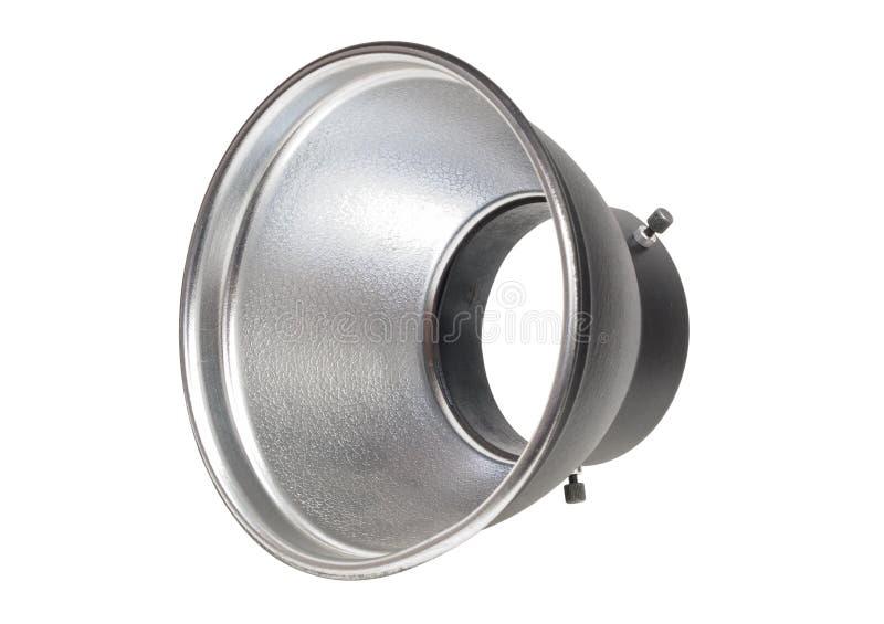 Pot de réflecteur pour l'éclair de studio d'isolement sur le fond blanc photo stock