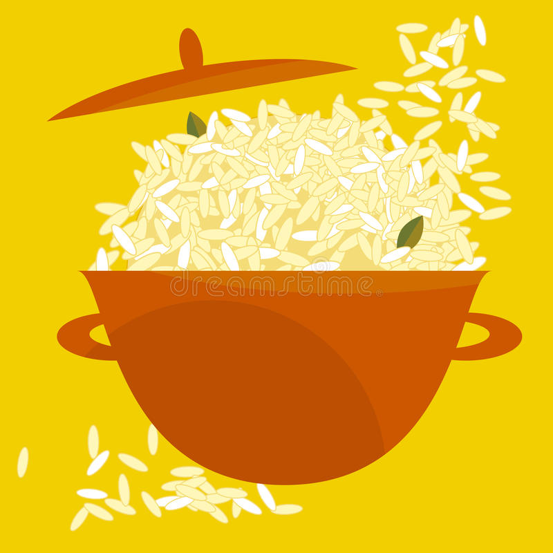 Pot de riz illustration stock