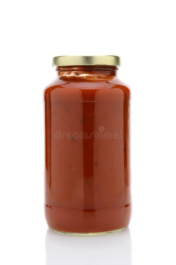 Pot de sauce à spaghetti photos stock