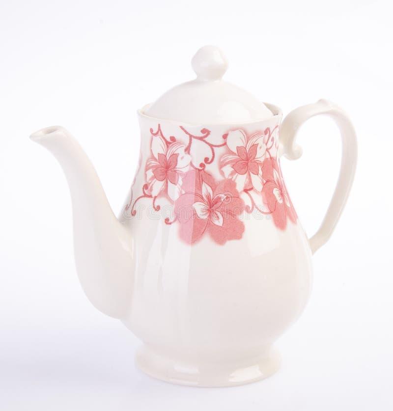 Pot de thé, théière en céramique sur le fond photographie stock libre de droits