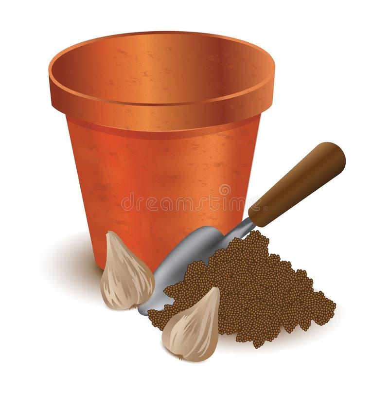 POT di argilla illustrazione di stock