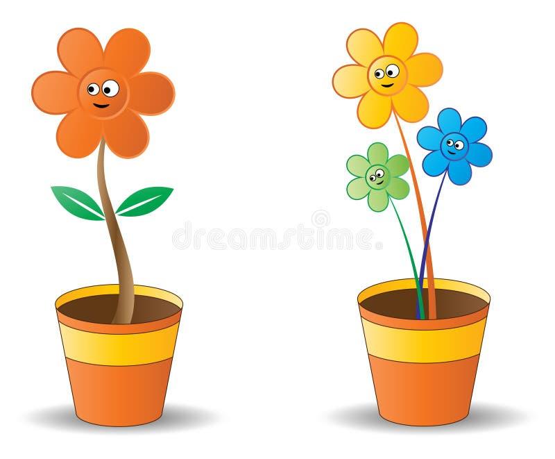POT di fiore illustrazione di stock