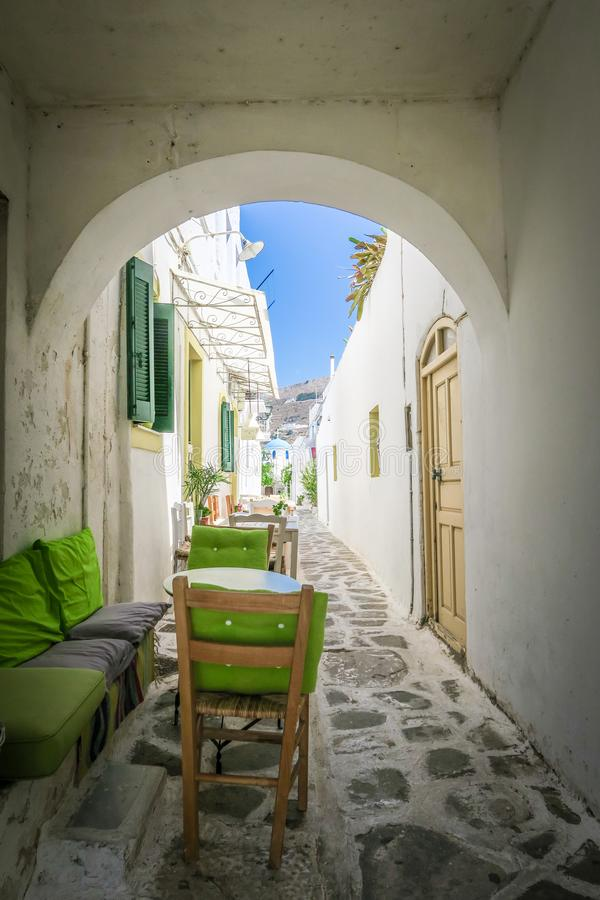 POT di fiore - Paros, Grecia immagini stock
