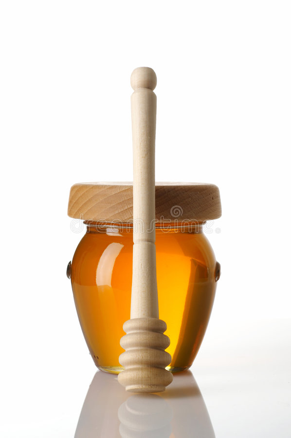 POT di miele immagini stock libere da diritti