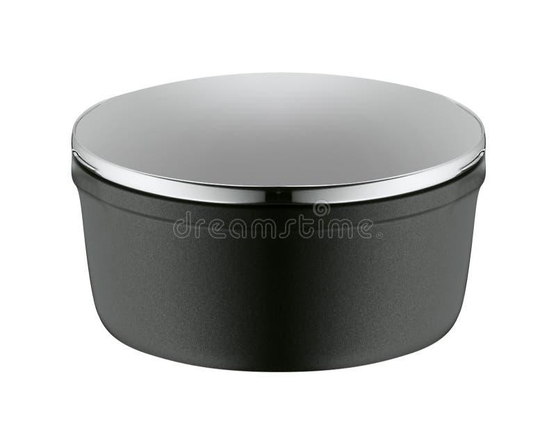 Pot en métal d'isolement photographie stock