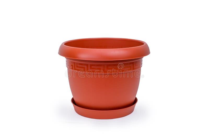 Pot en plastique pour des fleurs photographie stock libre de droits