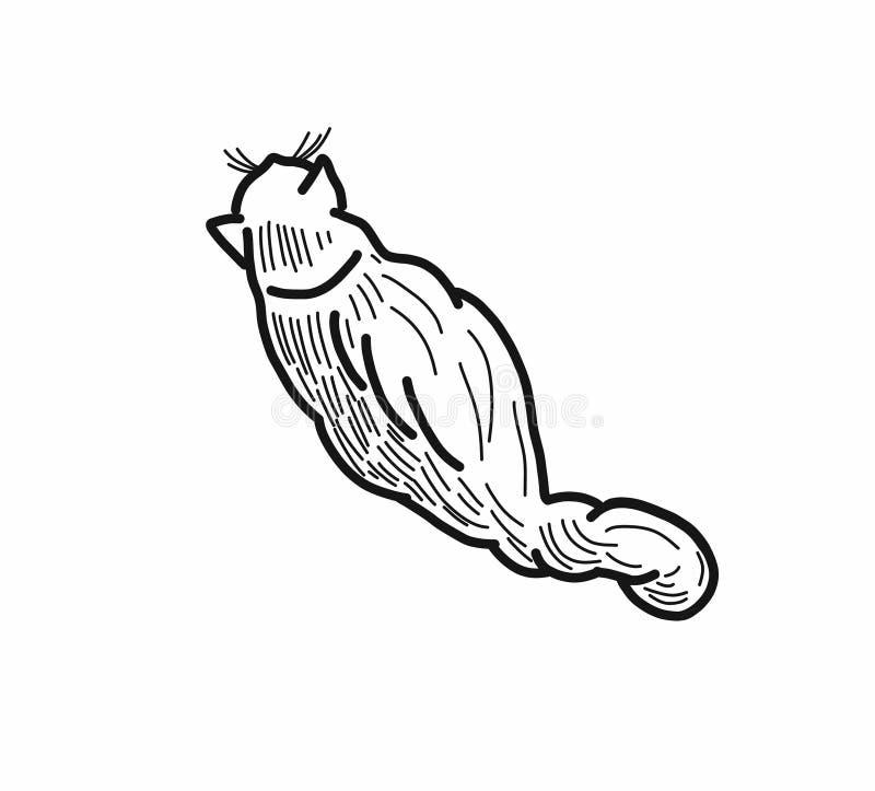 Pot gevoelige lijnen van zwart-witte 2D illustratie stock illustratie