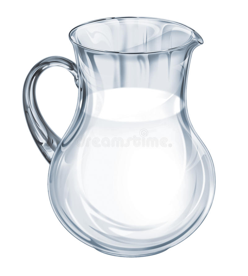 Pot from glass. Pot (jar) from glass with healthy milk vector illustration