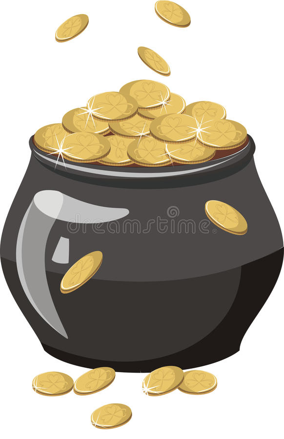 A pot of gold vector illustration