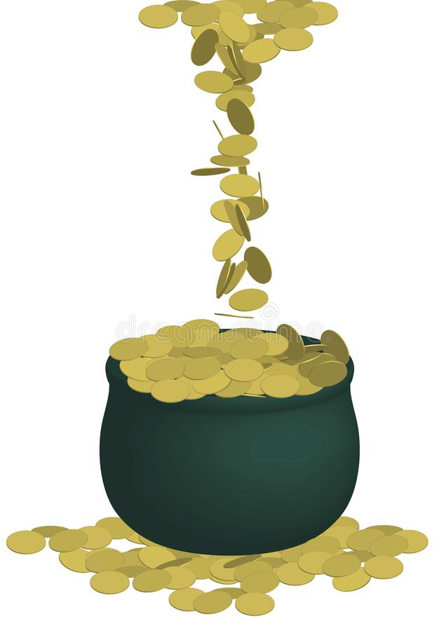 Pot of Gold 2 royalty free stock photos