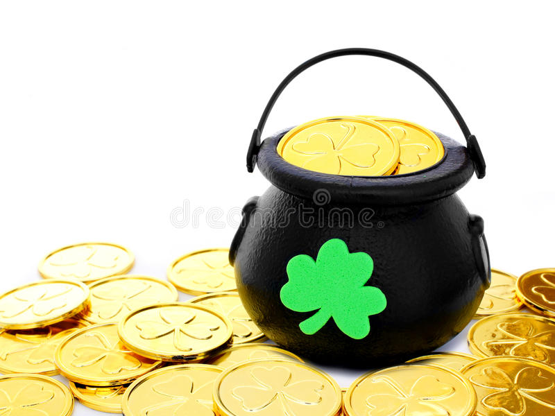 Download Pot of Gold stock image. Image of ireland, clover, decorative - 28942647