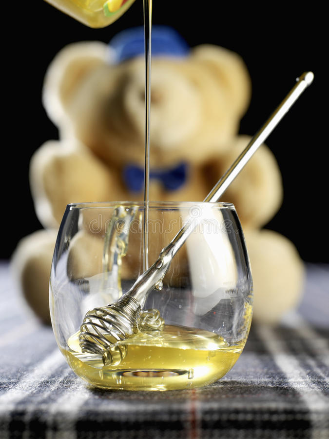 Download Pot Of Honey And Honey Spoon Stock Image - Image: 23707259