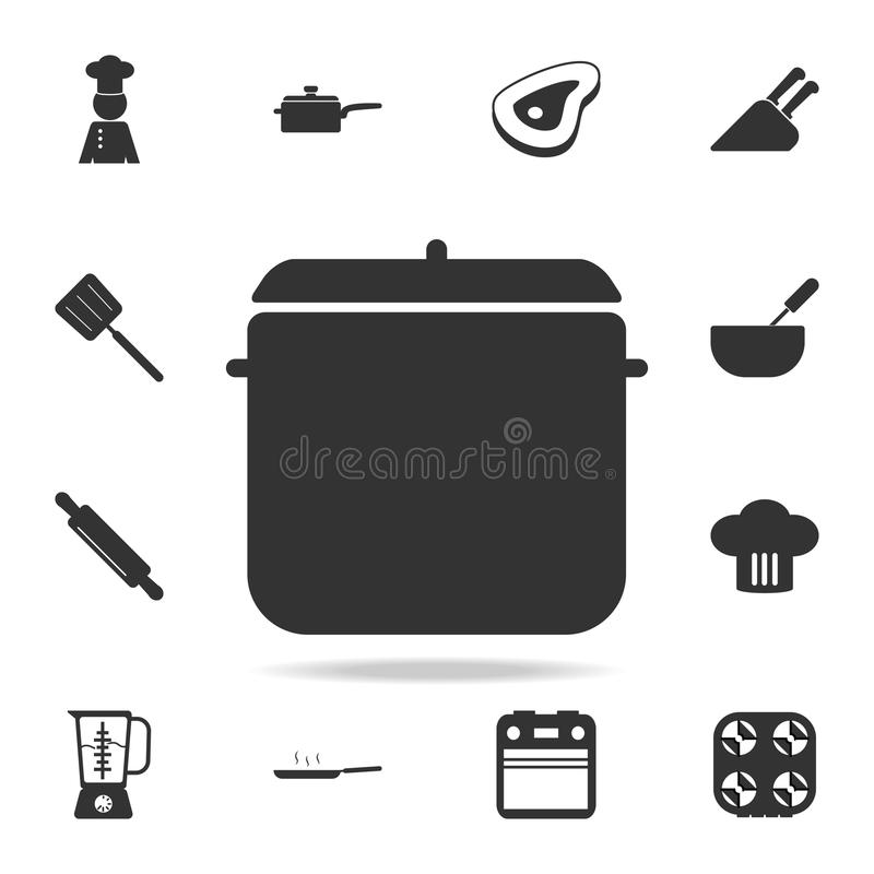 Pot Icon Set Of Chef And Kitchen Element Icons Premium Quality