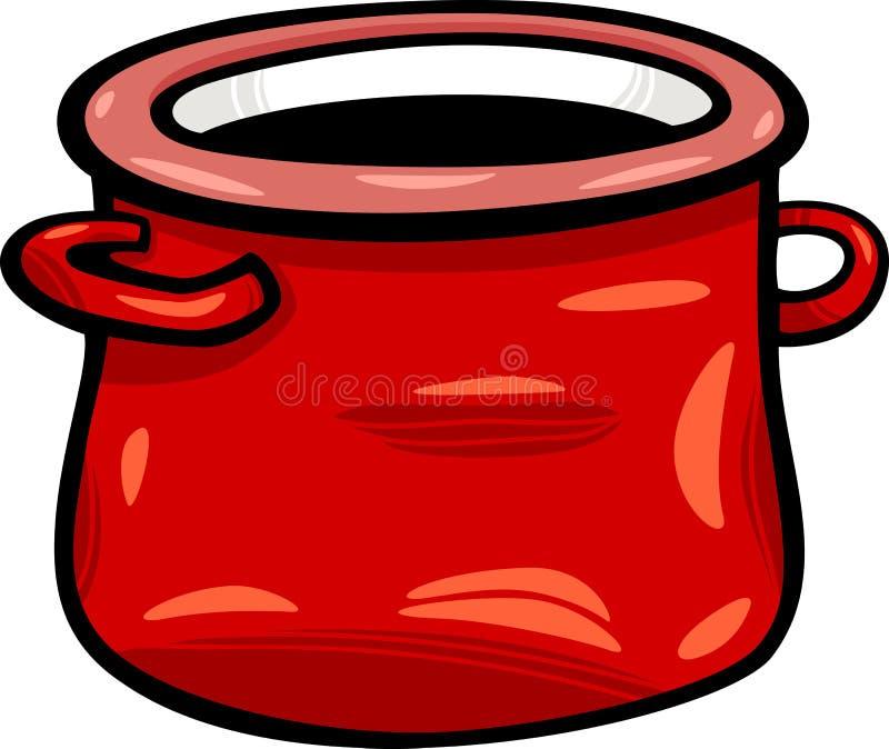 Pot or jar cartoon clip art