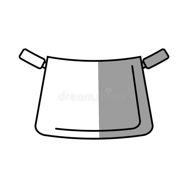 Pot kitchenware metal cooking shadow. Illustration eps 10 royalty free illustration
