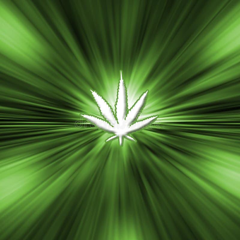 Pot leaf royalty free illustration