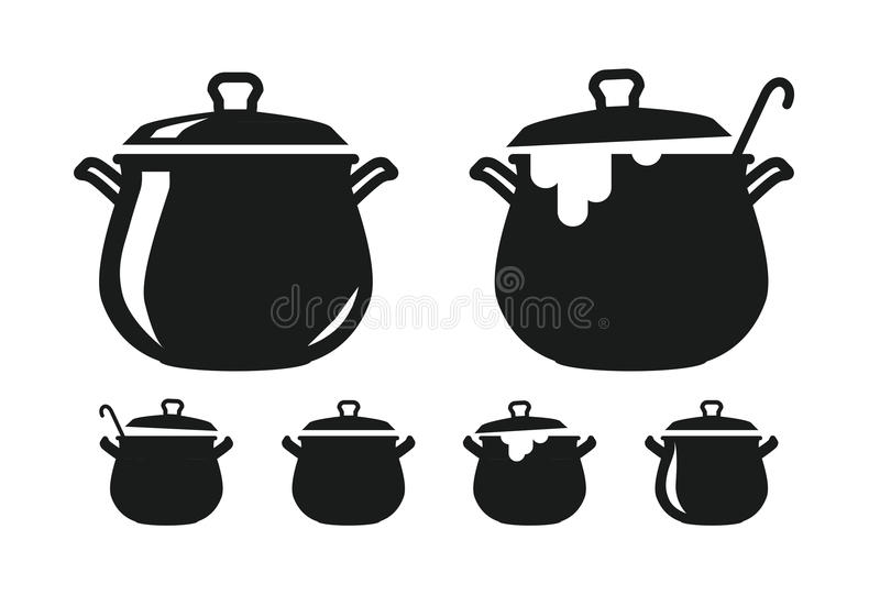 Pot with lid pan of soup silhouette cooking cuisine for Art and cuisine pans