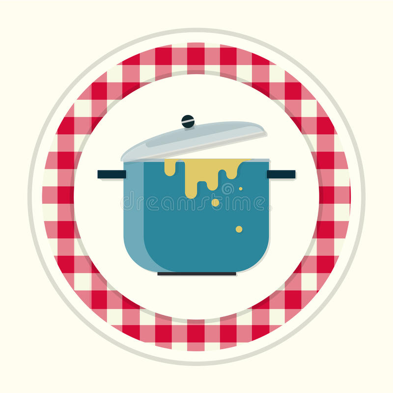Pot meals royalty free illustration