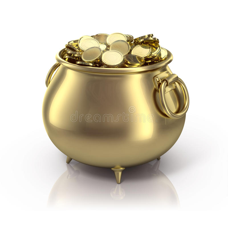 Free Pot Of Gold Royalty Free Stock Photography - 12559087