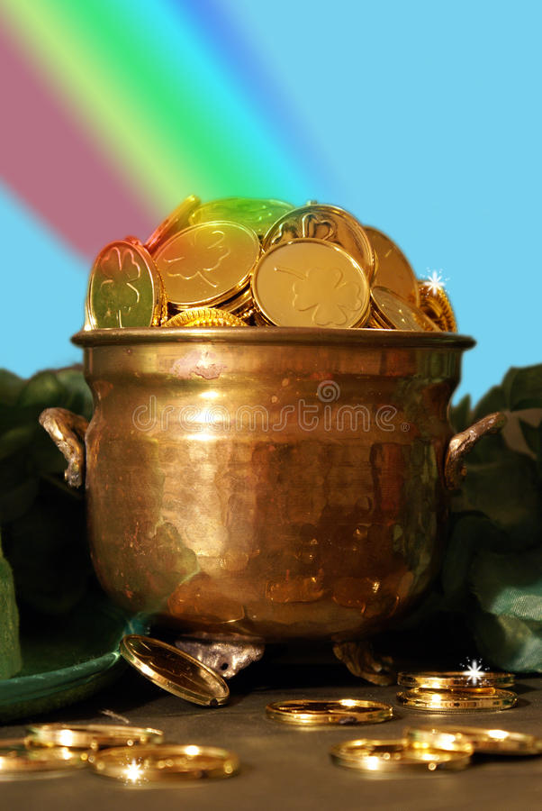 Free Pot Of Gold Stock Photography - 79414302
