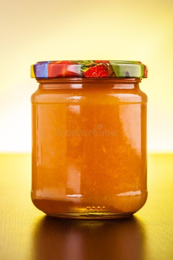 Pot orange de gelée photos stock