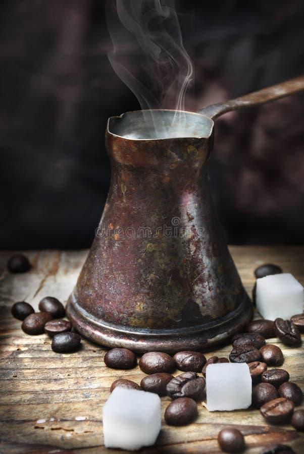 POT orientale del caffè immagine stock