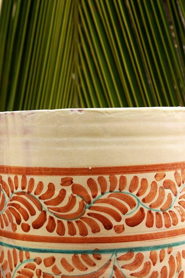 Pot and palm stock photos