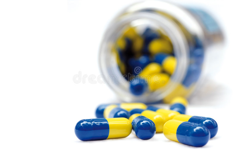 Pot of pills stock photo