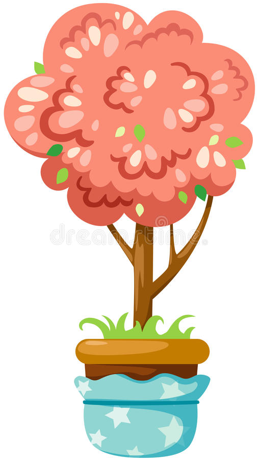 Download Pot plant stock vector. Image of branches, abstract, cartoon - 25965385