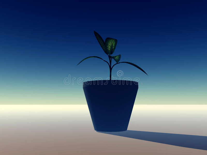 Download Pot Plant stock illustration. Image of flora, beauty, growth - 612209